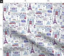 A Day In Paris Abstract Travel European Fabric Printed by Spoonflower Bty