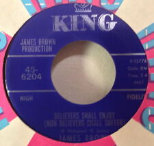James Brown 1968 Believers Shall Enjoy/Tit For Tat 45 King 6204 Soul Funk NOS EX