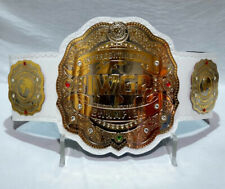 IWGP Intercontinental Championship wrestling Title Belt White Leather Adult Size