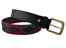 Cintura in pelle fatto a mano a cavallo Embroided POLO Argentina FORTE M/L Argentino