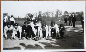 Football Team w/Ball on Field in Uniform 1920s Photograph Photo