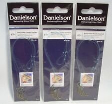 3 Packages Danielson Size 6 Snelled Baitholder Fishing Hooks Crappie Trout