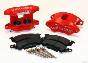 "WILWOOD D52 BRAKE CALIPER & PAD SET W/PINS,FRONT,1.28"",RED,BIG GM CALIPERS,PADS"