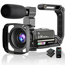 Video Camera 2.7K Camcorder Ultra HD 36MP Vlogging Camera for YouTube IR