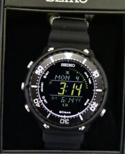 Brand-New SEIKO PROSPEX SBEP001 FIELDMASTER LOWERCASE SOLAR DIGITAL WATCH