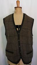 POLO RALPH LAUREN ~ Mens Brown Khaki Tweed Look Wool Alpaca Knitted Vest NWT M