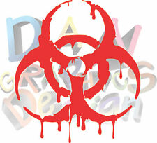 "(2) 6"" biohazard decal vinyl sticker laptop car drip spill bumper die cut"
