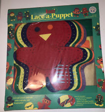 Lauri Lace A Puppet craft kit 6 Precut Felt Yarn Plastic Needles NIP Ages 5-9