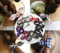 1x3x5x10xPCS Rabbit Ear Hair Bands Bow Ties Ponytail Holders