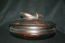 African wooden bowl and lid of Lozi make from Zambia