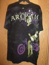 ARCHAIC women n Motorcycle black graphic XL t shirt