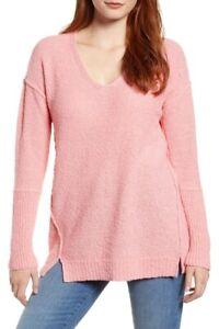 Nordstrom Caslon  PINK GERANIUM Long Sleeve Sweater Size XXS Petite - NWT