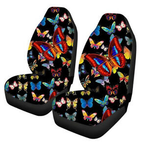 Universal Polyester Car Front Seat Cover Protector Butterfly Pattern SUV Cushion