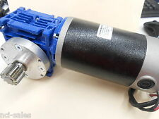 EXMEK ELECTRIC MB080FG220 & MOTOVARIO NMRV/030 80:1 RIGHT ANGLE GEAR REDUCER