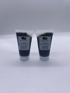New ORIGINS CLEAR IMPROVEMENT ACTIVE CHARCOAL MASK TO CLEAR PORES 1.0oz/30ml X 2