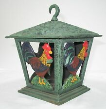 Emily's Garden Cast Iron Rooster Lantern 9Cl255P New