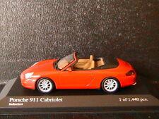 PORSCHE 911 996 CARRERA CABRIOLET 2001 INDISCHROT MINICHAMPS 400061034 1/43 RED