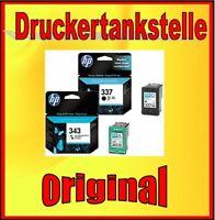 Original HP Nr. 343 + 337 Sparpaket  C9364 C8766 NEU Photosmart C4180 C4190 TOP