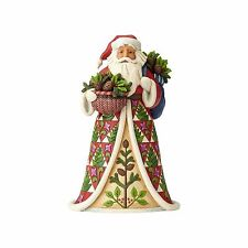 Jim Shore New 2017 PINING FOR CHRISTMAS-SANTA WITH PINECONE BASKET FIG. 4058785