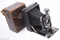 ✅ IHAGEE PIONIER 9X12CM FOLDING BED CAMERA MEYER TRIOPLAN 135MM, 13.5CM 4.5 LENS