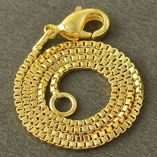 Vintage  yellow Gold Filled Womens Square Fine Chain Bracelet Free Shipping