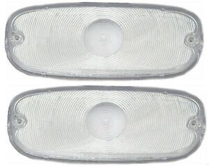 58-59 Chevy Truck Clear Park Light Lamp/Turn Signal Lenses