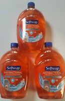 3 PACK, Softsoap Liquid Hand Soap, ANTI-BAC , Crisp Clean. 50 OZ 800+ Dispenses.