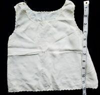 Antique Doll Slip Petticoat Salvage Primitive Hand stitched Scalloped A32