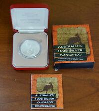 Australia 1995 Silver Kangaroo Sydney Intl Coin & Banknote Fair Privy Mark