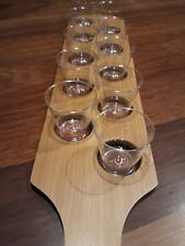 Bebidas Paddle Board 10 tiro con vasos de chupito   Bandeja De Bebidas