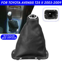 """Front Gear Shift Boot Cover PU Leather 6.57"""" For Toyota Avensis T25 MK2 II"""