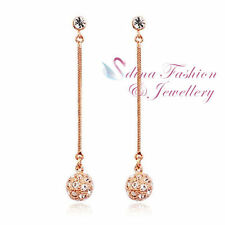 Rose Gold Plated Stud Lab-Created/Cultured Fashion Earrings