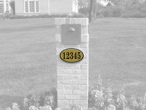 Curb-N-Sign®, 12 x 7 Oval House Curb Address Number Sign, Multiple Colors