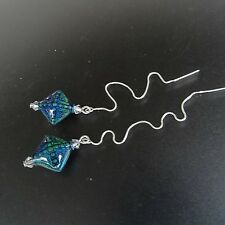 *SJ1* 3D Multi-Color Changing Mood Bead Sterling Silver Threader Dangle Earrings
