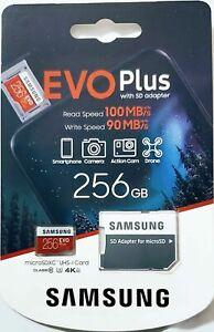 Samsung EVO Plus 256gb Class 10 U1 microSDXC 100% Original Product Sealed