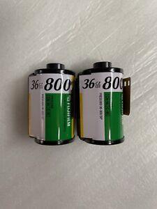 2 FUJIFILM CZ 135-36 Fujicolor Superia 800 Color Print Film Rolls ISO-800 Fuji