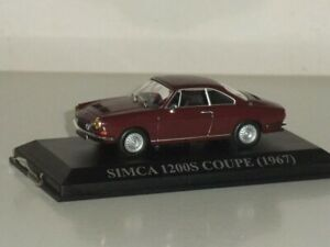 1:43 Ixo /Altaya Simca 1200S Coupe 1967 - Red