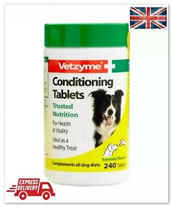 Vetzyme Conditioning Healthy Dogs Natural Vitamin B Complex 240 Tablets Skin