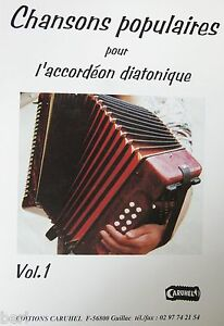 Accordéon diatonique Tablatures Chansons populaires v.1 neuf avec CD