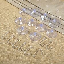 10pcs Suction Cups bottom Clear Rubber suction cups with hook Hole DIY Hanger