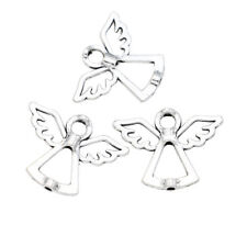 10pcs Antique Silver Angel Bead Frame Jewelry Making Bracelet Accessories DIY