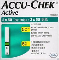 Accu-Chek Active 100 Diabetic Test Strips Expiry April 2020