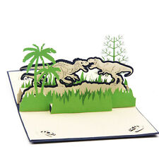 3D Pop Up Greeting Card Jurassic Dinosaurs Birthday Valentine Easter Thank You