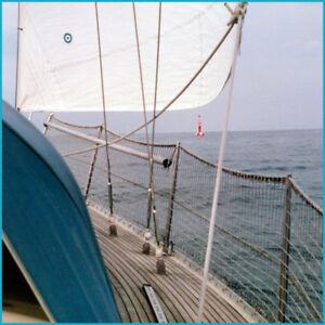 Relingsnetz Schiffsnetz Schutznetz Reling Mw. 45 mm weiß für Segelboot Yacht