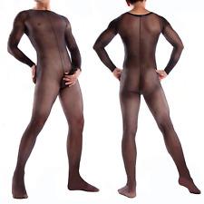 Mens Bodystocking Full Body Pantyhose Stockings Sissy Gay Sexy Penis Sheath SEO