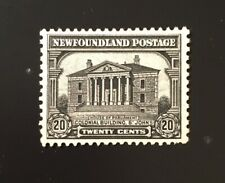 Stamps Canada Newfoundland SC157 20c grey blk Colonial Bldg. 1928, see.details.