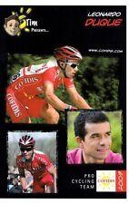 CYCLISME carte cycliste LEONARDO DUQUE équipe COFIDIS 2009