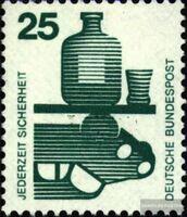 BRD 697A Ra mit Zählnummer gestempelt 1971 Unfallverhütung