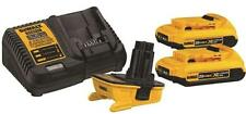 NEW DEWALT DCA2203C 18-20 VOLT LITHIUM ION BATTERY ADAPTER KIT AND CHARGER SALE