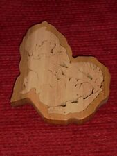 Vintage Wood Animal Shapes Scrollsaw Puzzle Toy Collectible